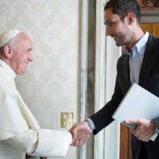Pope meets will all the media giants 2016